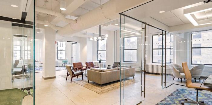 财务咨询公司办公室装修设计效果图