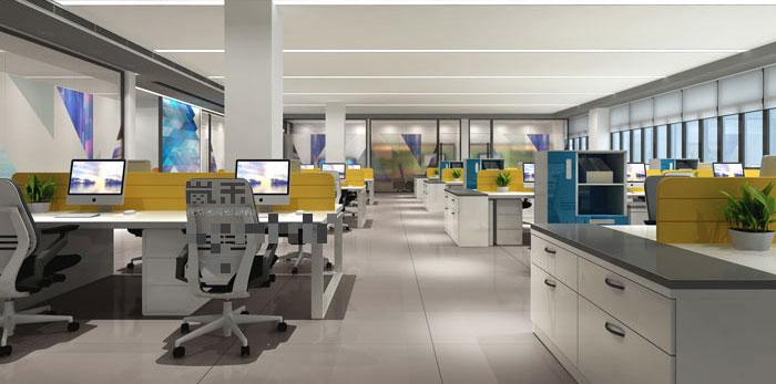 led厂家办公室装修设计案例效果图