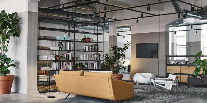 厂房改造办公空间装修设计效果图