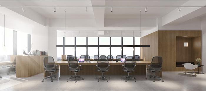 商贸公司办公室装修设计效果图