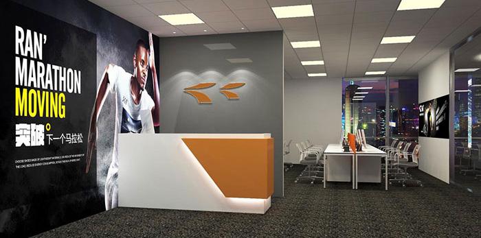 体育用品公司办公室装修设计效果图