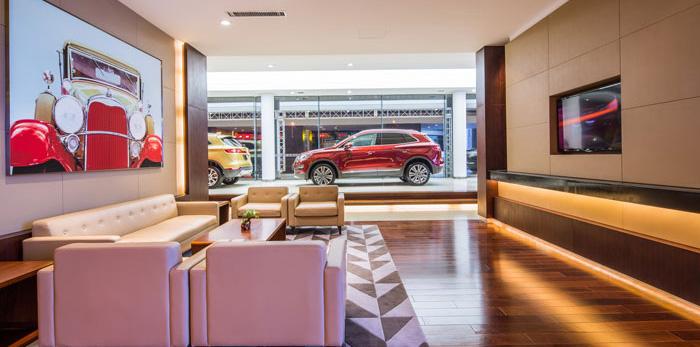 汽车贸易公司办公室装修设计效果图