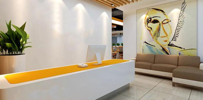 能源科技公司办公室装修设计效果图
