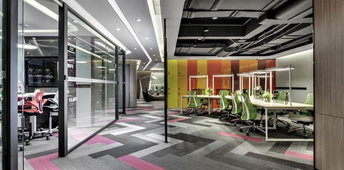金融科技公司办公室装修设计效果图