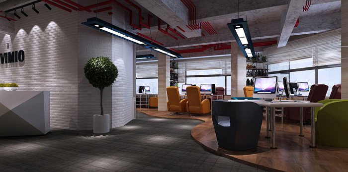 互联网公司办公室装修设计效果图