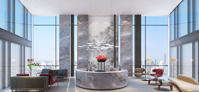 杭州金融公司办公室装修设计效果图
