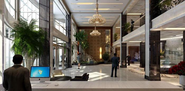 杭州余杭办公楼装修设计效果图