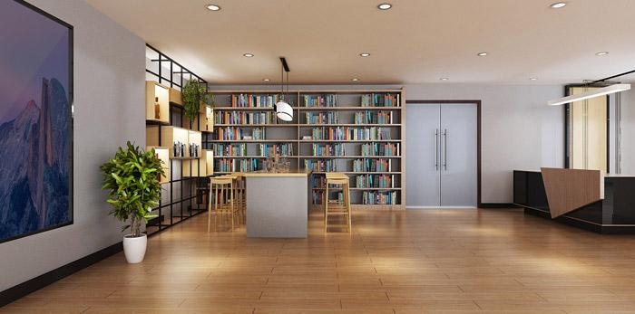 教育培训办公空间装修设计效果图