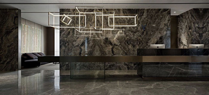 投资控股公司办公室装修设计效果图