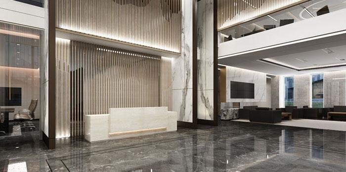 金融办公室装潢设计效果图