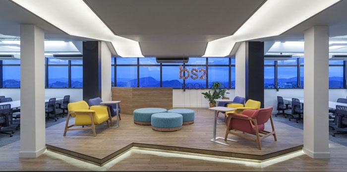 金融企业办公室装修设计效果图
