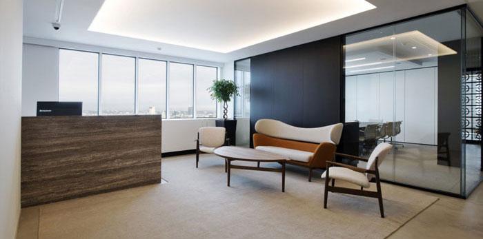 投资咨询公司办公室装修设计效果图