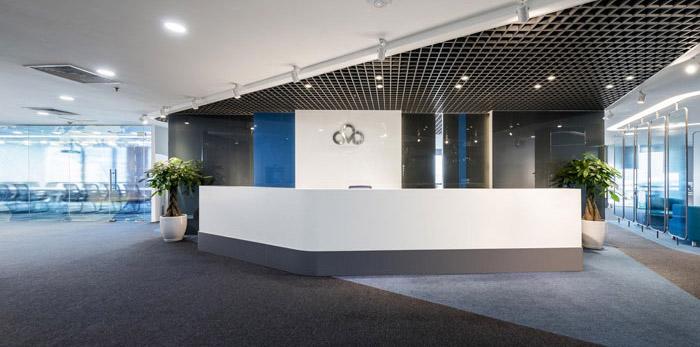 通讯科技公司办公室装修设计效果图