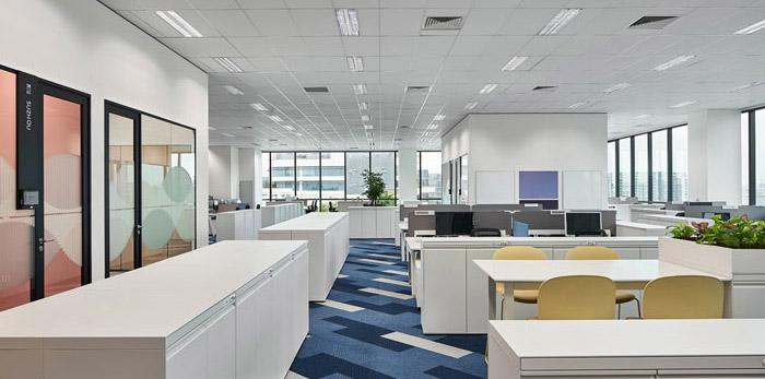 听力技术公司办公室装修设计效果图