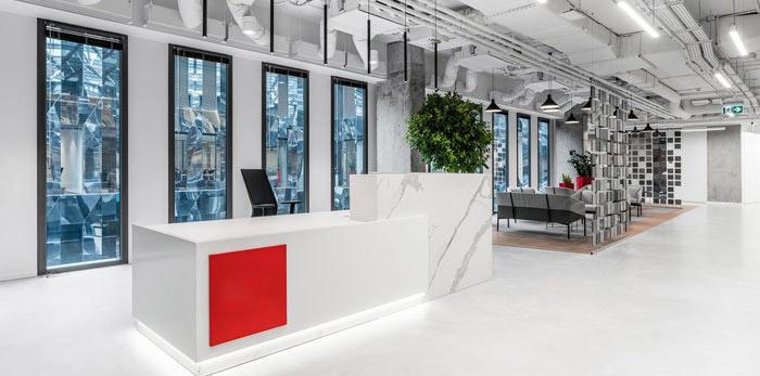 科技感办公室装修设计效果图