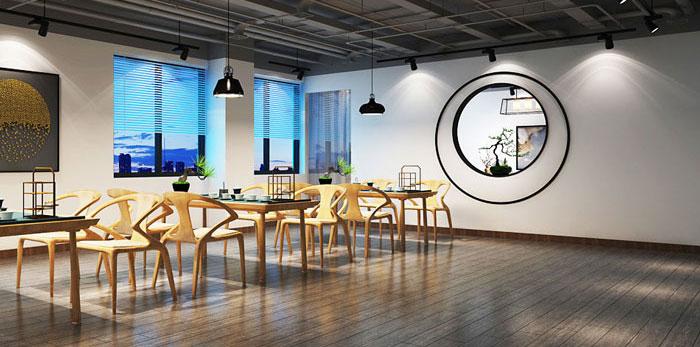 中式禅意办公室装修设计效果图