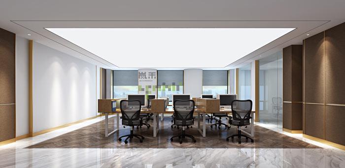 办公室新中式装修设计效果图