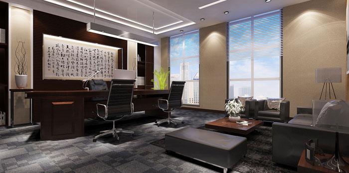 新中式证券公司办公室装修效果图