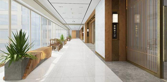 新中式办公装修设计效果图