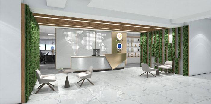 新中式办公楼装修设计效果图