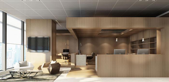 新中式风格办公室装修设计效果图