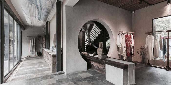 中式古典办公室装修设计效果图