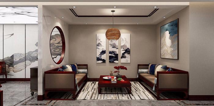 中式办公室设计效果图