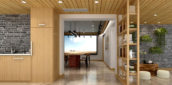 新中式工作室装修设计效果图