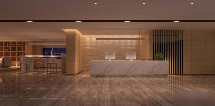中式禅意风格办公室装修效果图