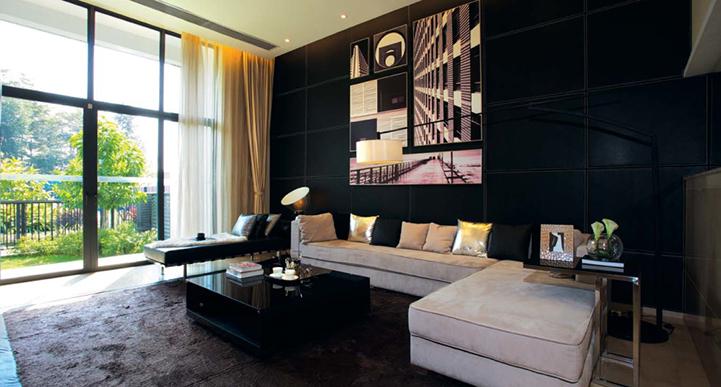 后现代风格客厅效果图