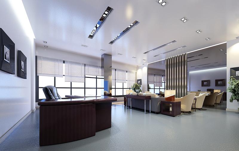 办公室地面效果图)                     因为办公室装修中地面需要足