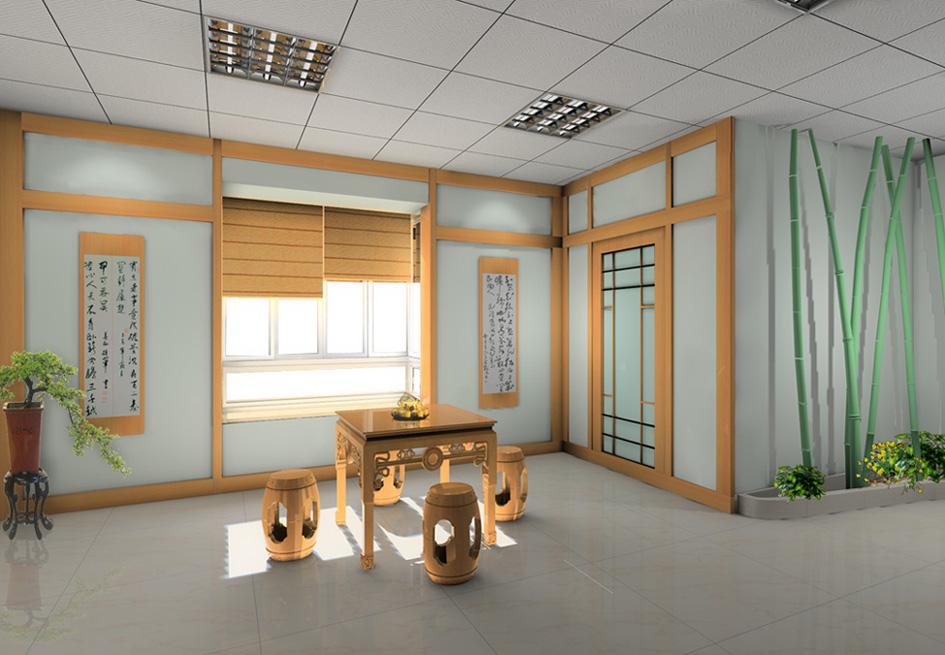 小型办公室设计效果图