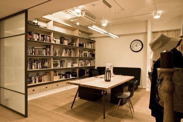 loft风格书房效果图