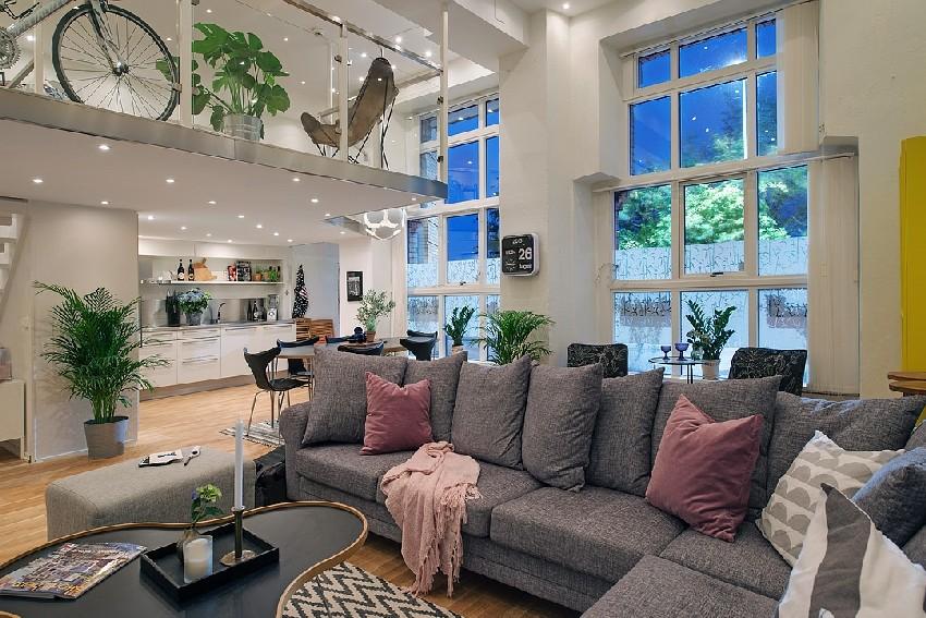明亮的瑞典公寓的室内设计元素