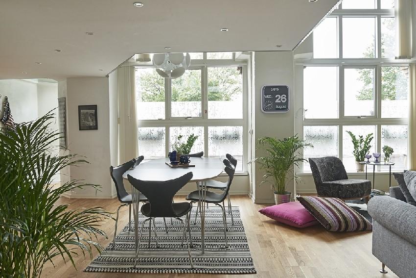 明亮的瑞典公寓设计效果图2