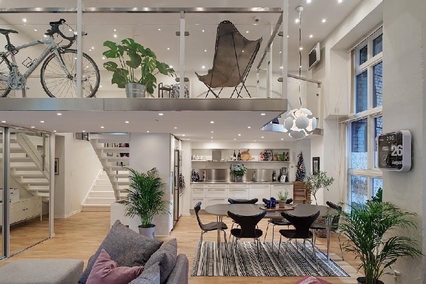明亮的瑞典公寓设计效果图4