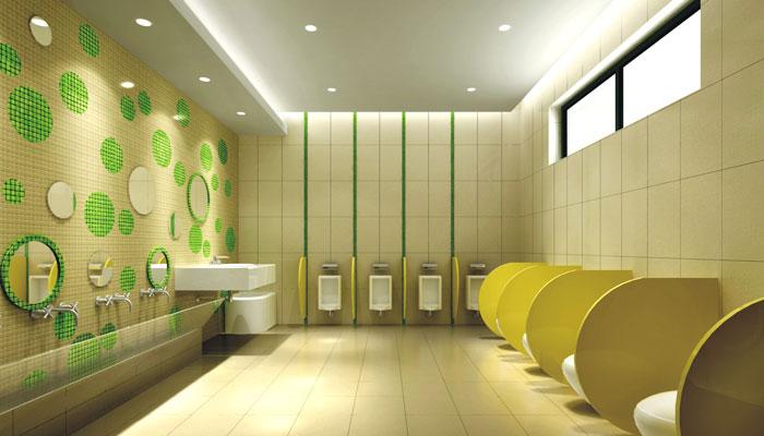 青山湖幼儿园卫生间装修设计效果图
