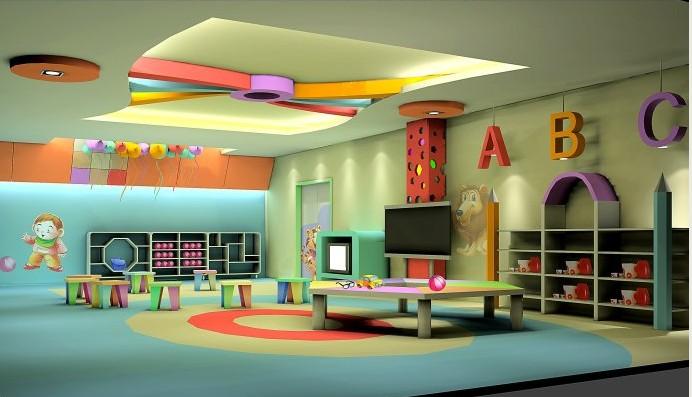 教室的墙面设计风格要与幼儿园的概念相符,设计的风格要和教学概念相