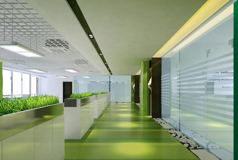 办公室环保装修设计效果图