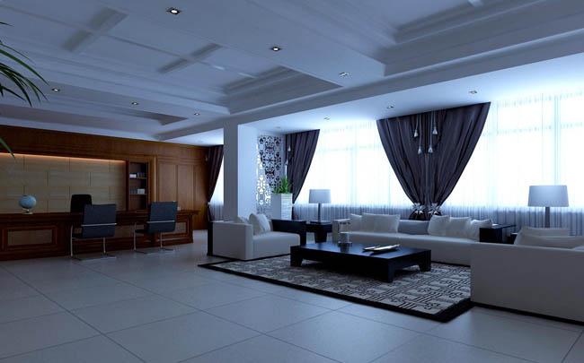 总经理办公室设计3:办公室空间布局一定要明亮,宽敞