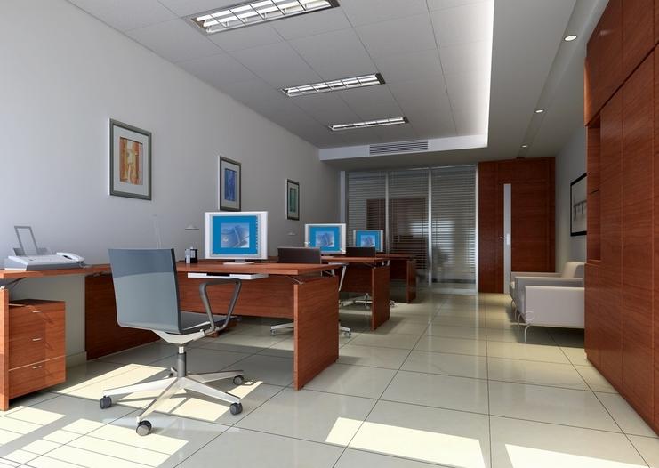 计算机终端设备的办公室