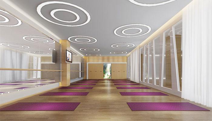 现代设计风格健身会所装修设计案例效果图_岚