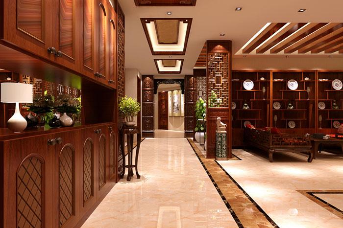 古典风格别墅客厅走廊设计效果图