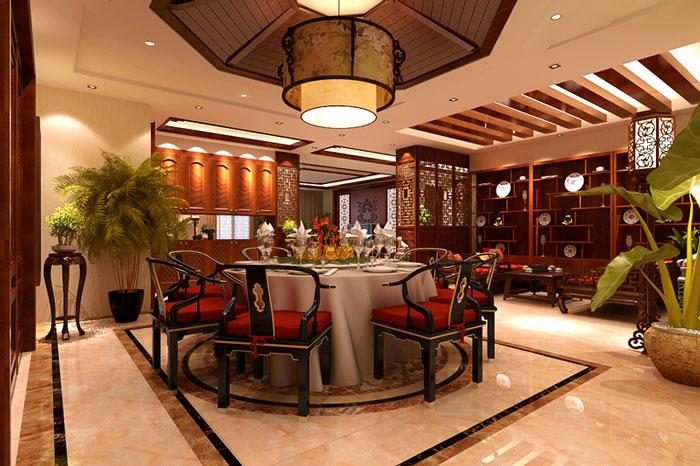 古典风格别墅餐厅全局设计效果图