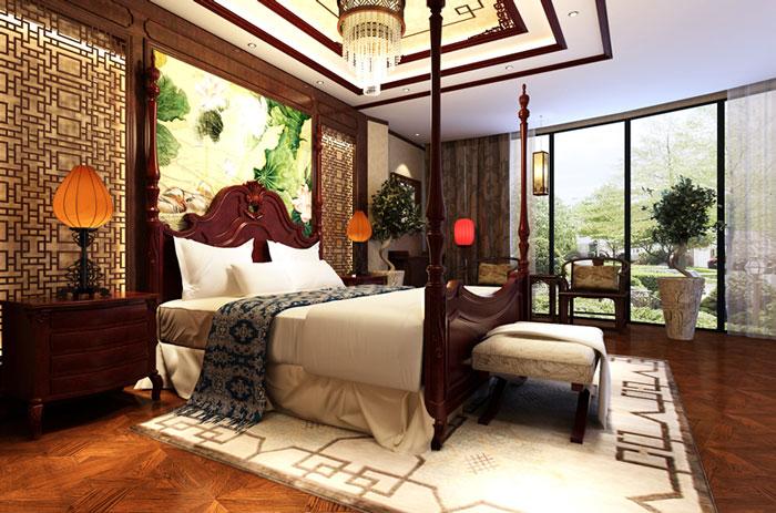 古典风格别墅卧室设计效果图
