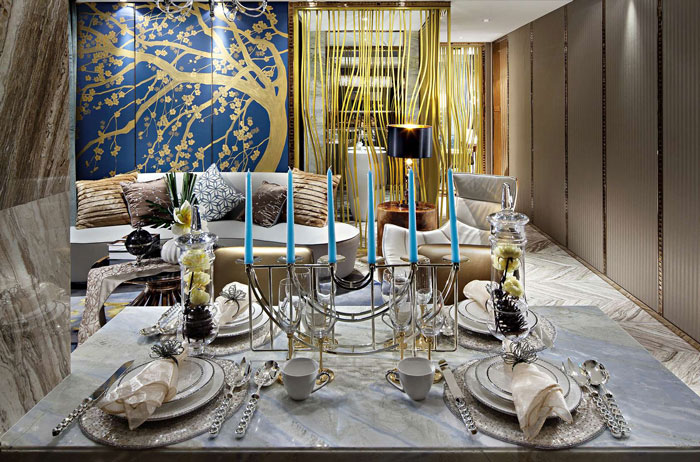 欧式风格别墅餐桌装修设计效果图