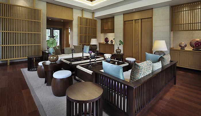 东南亚风格豪宅会客厅装修设计效果图