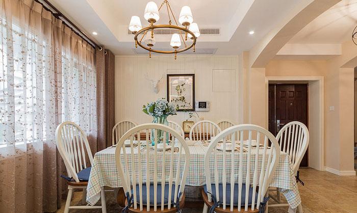美式风格别墅餐厅装修设计效果图