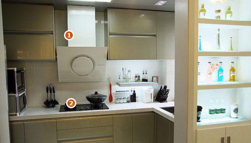 增加厨房的视觉面积