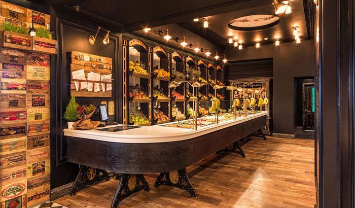 复古风格水果店铺装修设计案例